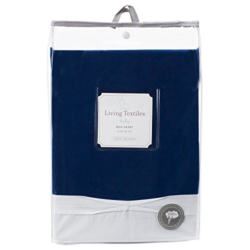 - Living Textiles 100% Cotton Crib Bed Skirt (Navy). Navy Blue Machine-Washable Bed Skirt for Baby Crib
