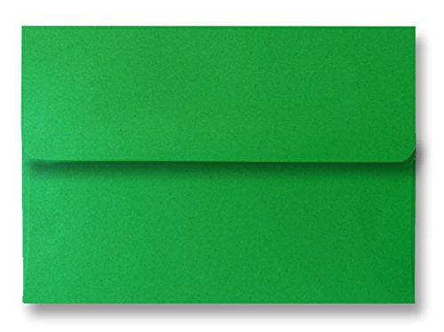 [Holiday Green A2 50 Boxed Envelopes for 4-1/8 X 5-1/2 Enclosures Invitations Announcements Showers from The Envelope Gallery] (Green Holiday Invitation)