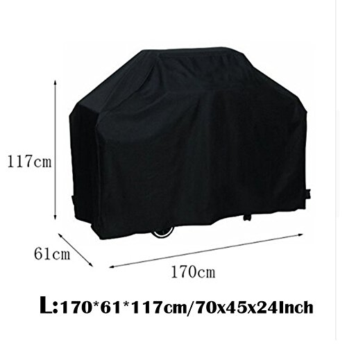 Mingao Black Waterproof BBQ Cover Outdoor Barbecue Grill Protector For Barbeque Grill Cover (67 x 24 x 46 inch) Review