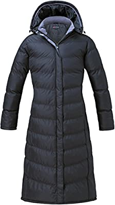 u2wear Women's Water Resistance Puffer Winter Full Length Coat with Hood
