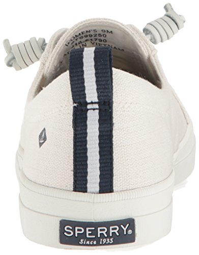 White 10 Blanco para Sperry Crest Mujer Vibe Linen Zapatillas w60wOqR