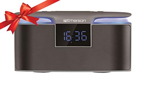 Emerson Portable Bluetooth Speaker, 12W Stereo, USB Charging