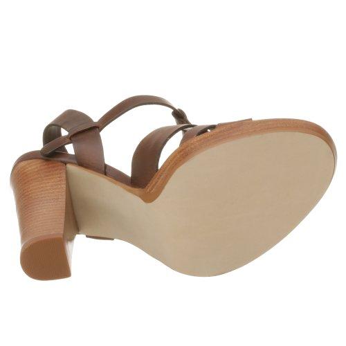 Leather Women's Tan Manhattan Sandal MIA Heel Stacked TPRUq
