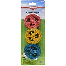 Superpet (Pets International) SSR61182 3-Pack Ka-Bob Small Animal Crispy Chew Treat, Colors Vary