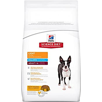 Hill's Science Diet Adult Light Small Bites  with Chicken Meal & Barley Dry Dog Food, 5-Pound Bag
