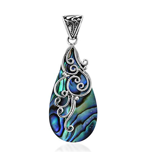 Pendant 925 Sterling Silver Abalone Shell Boho Handmade Fashion Jewelry for Women 1