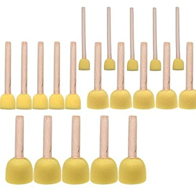 BCP 20-Pieces Assorted Size Round Sponges Brush Set, Paint Tools For Kids