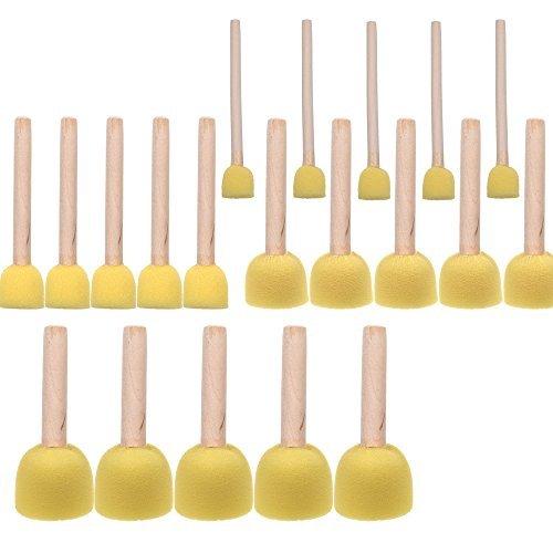 BCP 20-Pieces Assorted Size Round Sponges Brush Set, Paint T