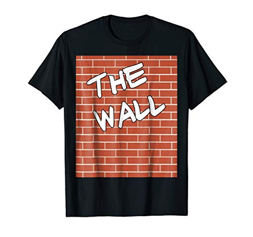 Mens The Wall Costume - Funny Halloween Brick Wall Costume Large Black