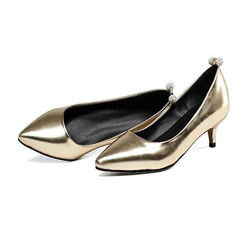 HXVU56546 Durante La Primavera Y El Otoño Con El Nuevo Presidente Zapato Bajo De Estilo Fino Con Solo Zapatos Gold