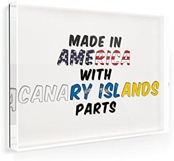 Imán para nevera hecho en América con partes de las Islas Canarias ...