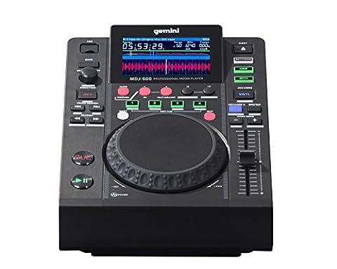 Gemini MDJ Series MDJ-500 Professional Audio DJ Media Player with 4.3-Inch Full Color Display Screen, 5