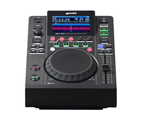 Dj Media Player - Gemini MDJ Series MDJ-500 Professional Audio DJ Media Player with 4.3-Inch Full Color Display Screen, 5