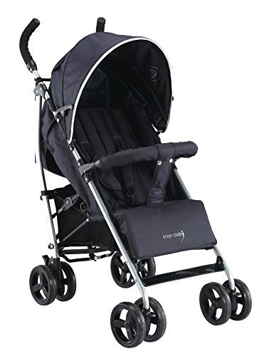 Knorr-Baby Happy Colour Sportwagen V-Easy-Fold mit Schlummerverdeck schwarz NEU