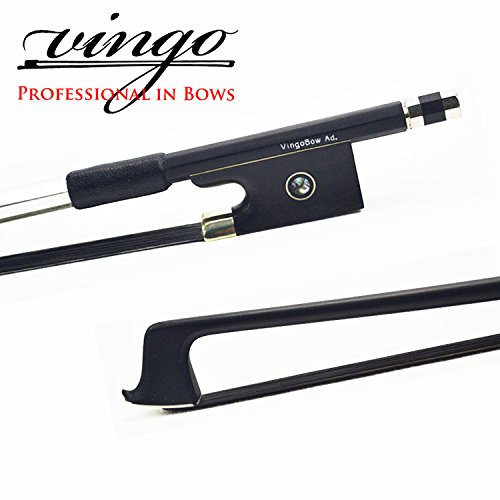 NEW 4/4 Black Carbon Fiber VIOLIN BOW Graphite Carbon STRAIGHT and Good Balance! VingoBow 100VB