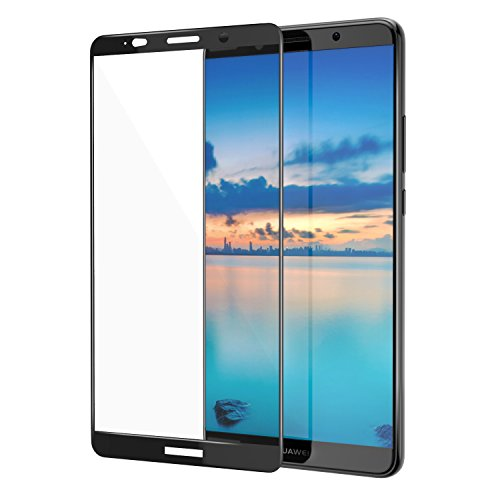Price comparison product image MoKo Huawei Mate 10 Pro Screen Protector, [Scratch Terminator][Full Coverage] Tempered Ballistic Glass Scratch Proof Screen Protector Anti-Bubble Film for Huawei Mate 10 Pro 2017, Black