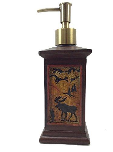 Elegant Square Soap Dispenser with Moose Design, 8-inch Moose Design