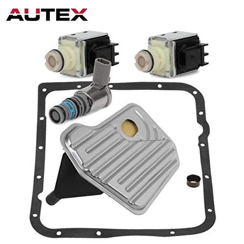 AUTEX 2Pcs Shift Solenoid & 1Pcs TCC & PWM Downshift Solenoid + 1Pcs Filter Kit(NBR) Solenoid compatible with Cadillac Escalade & Escalade ESV/Chevrolet Astro & Avalanche 1500 & Blazer/GMC/Pontiac