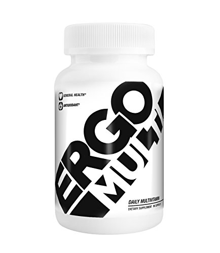 ErgoGenix ErgoMULTI Daily Sport Multivitamin Vitamins Minerals - 90 Capsules - 30 Day Supply