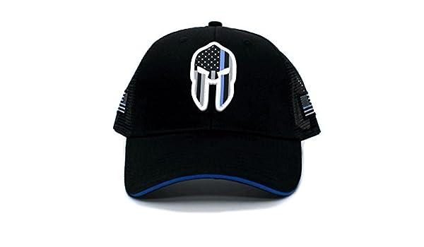Posse Comitatus Thin Blue Line PVC Spartan Hat Truckers Cap Black at Amazon  Men s Clothing store  a7579b02c0de
