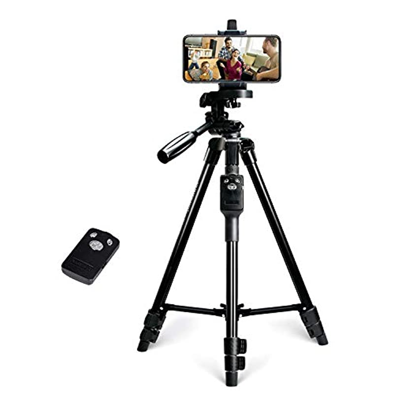 【최신판】 비디오 카메라 삼각 《스마호》삼각 Bluetooth리모콘 부착 일안레플렉스 카메라 3Way운대 탑재 4단계 신축 최장1.25m까지 360°까지 자유롭게 조정 가능초 경량 알루미늄제 휴대 편리 《스마호》삼각 수납 봉투 첨부