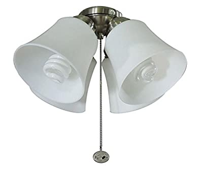 Universal Ceiling Fan Light Kit 4 Light Brushed Nickel