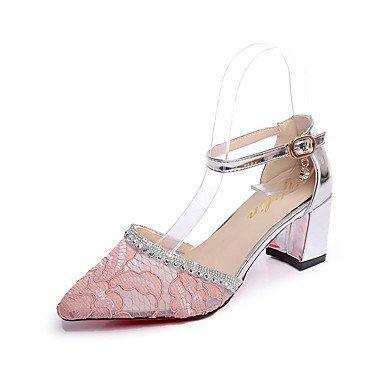 RUGAI-UE Moda de Verano Mujer sandalias casuales zapatos de tacones PU Confort,Almendros,US8 / UE39 / UK6 / CN39 Black