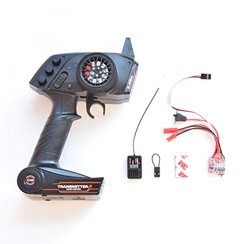 MaxMetal WPL Upgrade WPL OP Fitting Accessories Full Scale Remote Control Model/Ship Model General Purpose 3 Channel Transmitter (Remote Control & ESC)