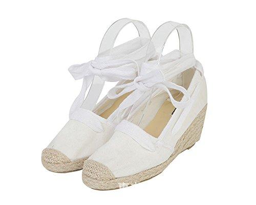 con superficial zapatos a la y zapatos solo a pescador las versátil Boca seguir luz de paja Hill hembra 36 blanco áspero blanca pletinas q8IF6wd
