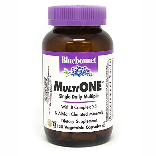 (Bluebonnet Nutrition Multi One (With Iron) Vegetable Capsules, Complete Full Spectrum Multiple Vitamin Supplement, B Vitamins, Gluten Free, Milk Free, Kosher, 120 Vegetable Capsules, 4 Month Supply)
