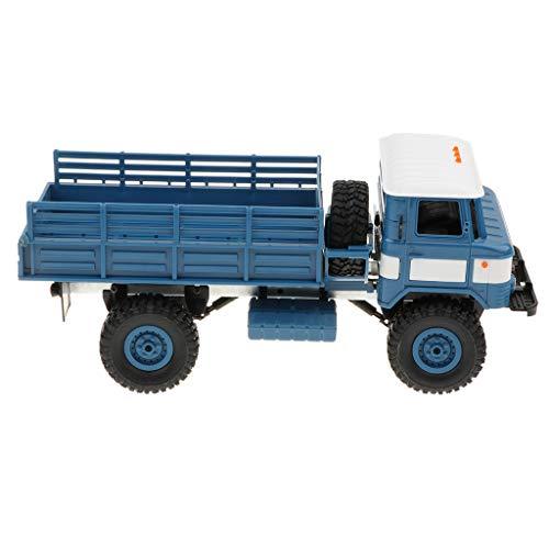 KESOTO RCトラック 1/16スケール ダイキャスト車おもちゃ リモコン 4輪駆動 トラック模型 2色選択 - 青