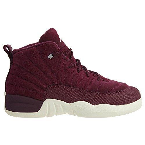 Nike Jordan Retro 12'' Bordeaux Bordeaux/Sail-Metallic Silver (Little Kid) (10.5 D (M) US)