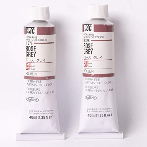 Holbein Oil Color 40ml Tubes Rose Grey - 2 in 1 Pack