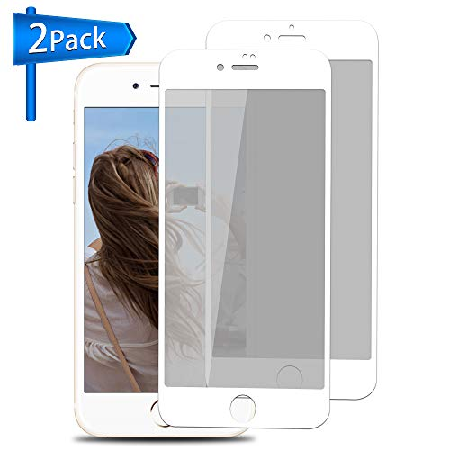 Privacy Screen Protector for iPhone 6 Plus 6s Plus [White, 2 Pack] ANYOYO Tempered Glass Screen Protector with Anti-Spy/Glare/Scratch/Fingerprint Ultra-Thin Full Coverage Screen Film, Easy to - 6 Break Anti Screen Iphone