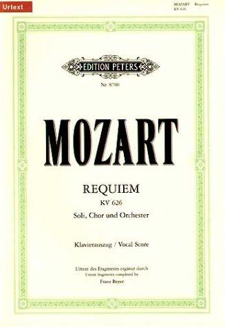Requiem d-Moll KV 626. Klavierauszug