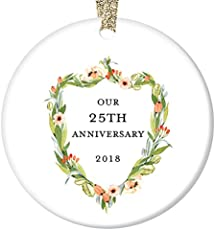 Modern & Traditional 25th Wedding Anniversary Gifts for Women & Men