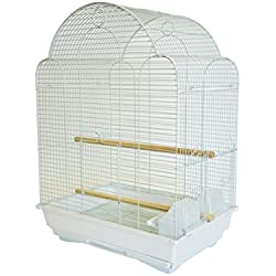 YML A1704 Bar Spacing Shell Top Bird Cage, White
