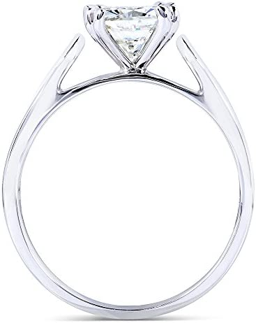 Kobelli Cushion-cut Moissanite Solitaire Engagement Ring 1 1/10 Carat 14k White Gold