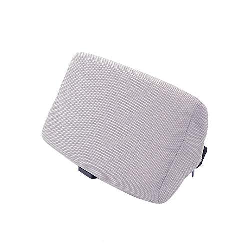 Mini Car Seat Cushion Travel Pillow Neck Pillows Cotton to Ease Fatigue Black Red Brown Gray Headrest,Gray Pillow