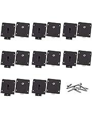 INCREWAY Möbeldörr rullsats, 8 set svart skåp skjutdörr rulle plast skjutdörr hjul hårdvarutillbehör dörr remskiva med skruvar