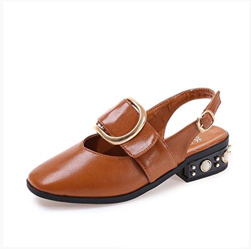 [WYMBS Shoes] レディース 36 EU ブラウン B074L781XL