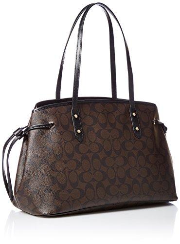 Jual Coach Signature Drawstring Carryall Shoulder Bag F57842 (Brown ... 38747a1ee0