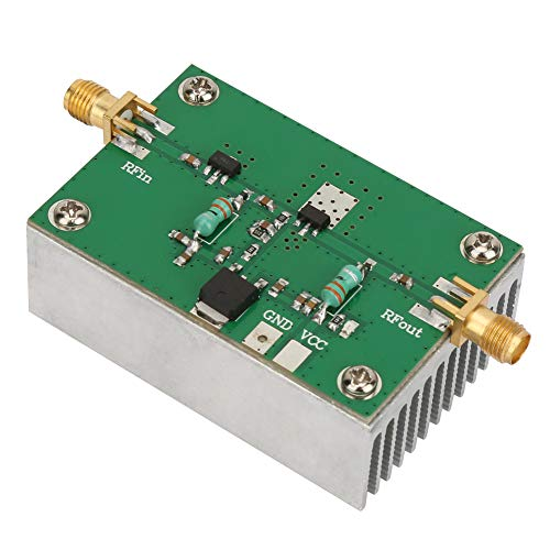 1-512MHz 1.6W Wideband Low Power RF Amplifier with Heat Sink for Shortwave FM Ham Radio