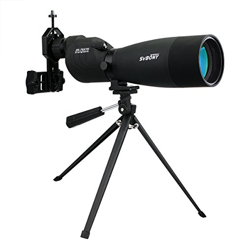 SVBONY SV17 Spotting Scope with Tripod Telescope for Target Shooting Bird Watching Wildlife Viewing BAK4 Prism (Tabletop Tripod)