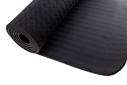 "Yoga Mat by DynActive 1/4"" (7mm) Thick Premium Non Slip Eco Friendly with Carry Strap 100% TPE Material The Latest Technology in Yoga High Density Memory Foam Non Toxic, Latex Free, PVC Free"