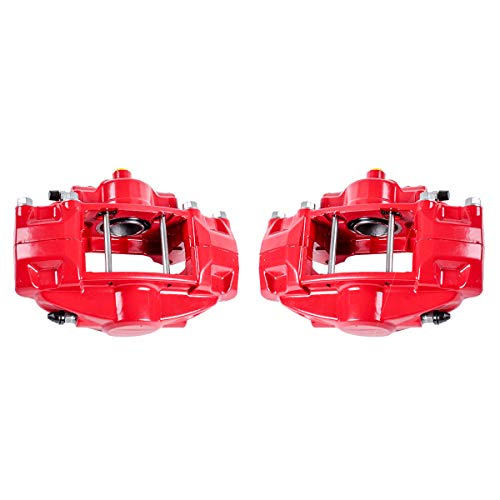 CCK02511 [ 2 ] REAR Performance Grade Red Powder Coated Semi-Loaded Caliper Assembly Pair Set