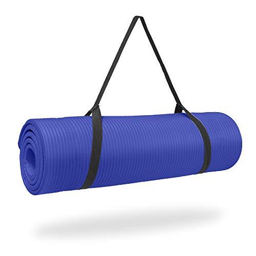 Pure Fitness 12mm High Density Exercise Mat - Iris