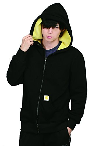 XCOSER Luke Cage Cosplay Jacket Black Cotton Leisure Zipper Hoodie with Holes Design XL -
