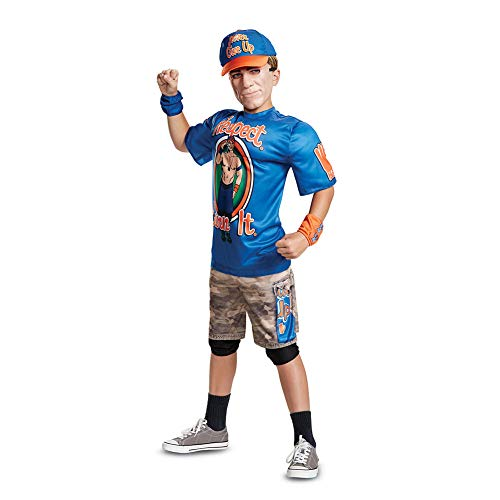 Disguise John Cena Classic Muscle Child Costume, Blue, Medium/(7-8)