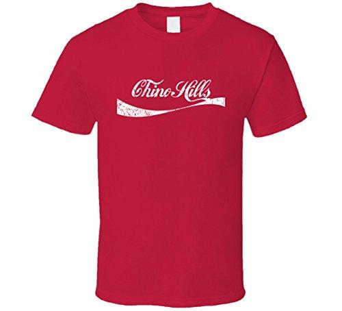 Chino Hills California Cola Parody City Distressed Worn Look T Shirt S - Hills California Chino